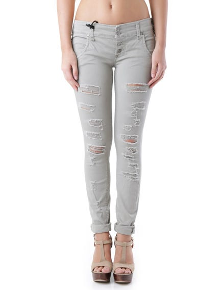 Button Ripped Trouser