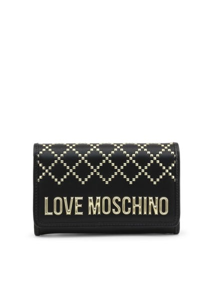 Black Embellish Studs Wallet