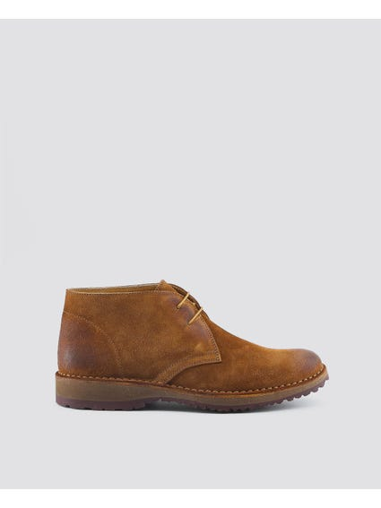 Brown Tommasso Cleated Sole Boots