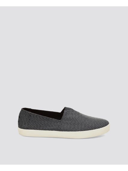 Black Yarn Slip Ons