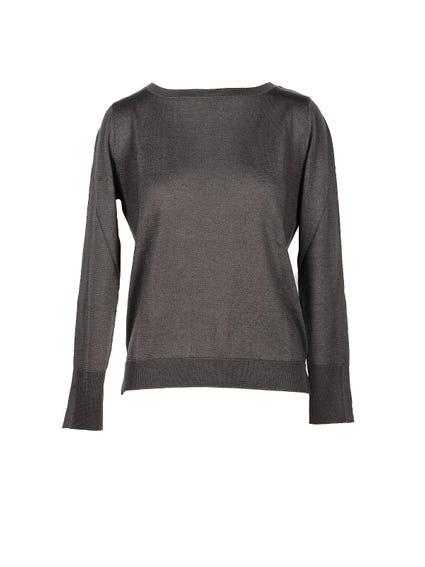 Black Plain Long Sleeve  Knitwear