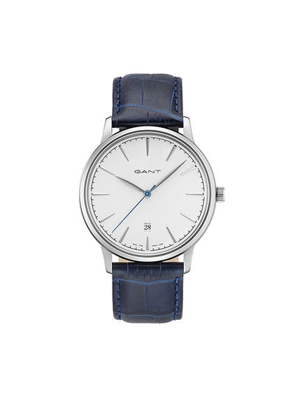 Leather Strap White Dial Watch