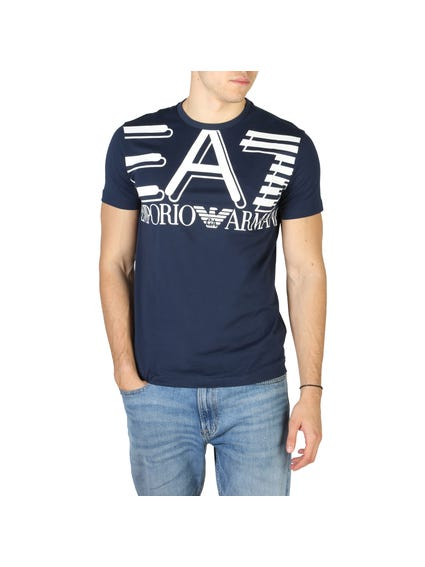 Blue Big Logo Print T Shirt