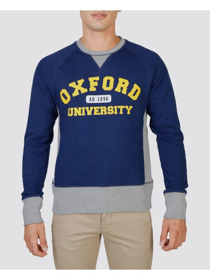 Navy Fleece Raglan Sweatshirt