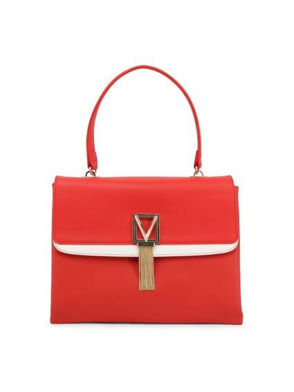 Rose Red Satiro Single Handle Handbag