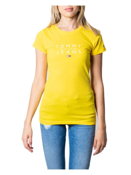 Yellow Cap Sleeve Graphic T-shirt