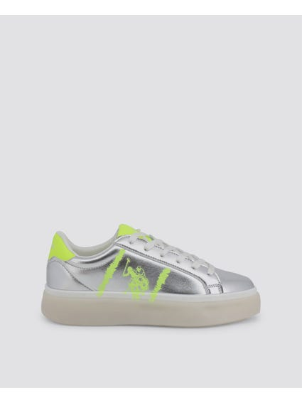 Silver Lucy Low Top Sneakers