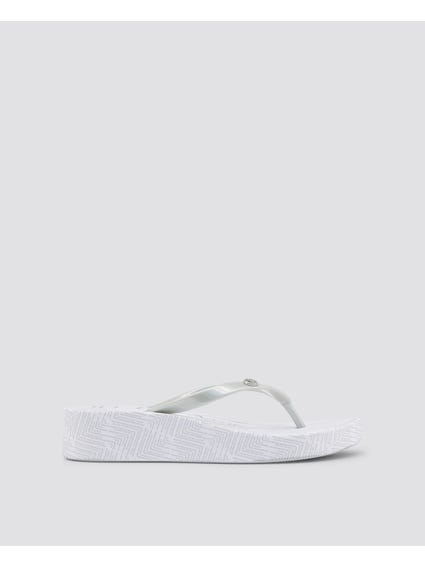 Grey Filly Abstract Print Flip Flops