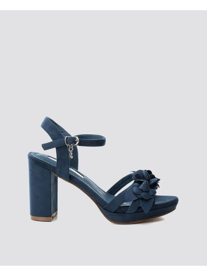 Navy Ankle Strap Sandals