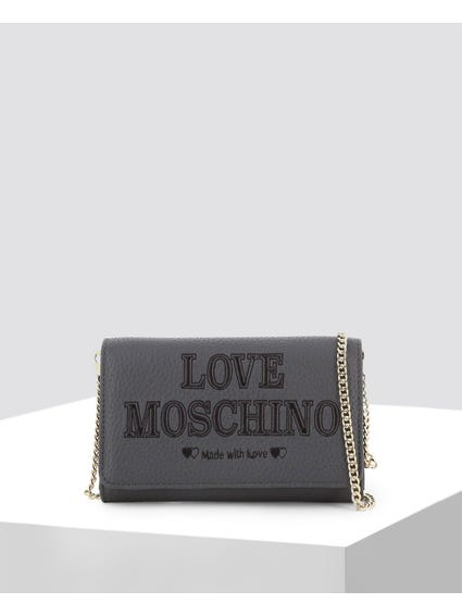 Grey Made Love Clutch Bag
