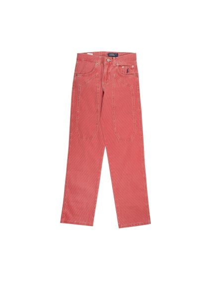 Red Button Pocket Kids Trouser