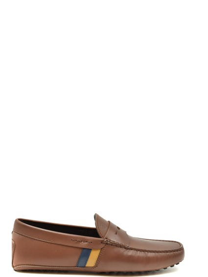 Round Toe Leather  Moccassins