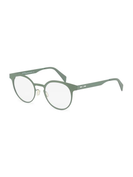 Green Metal Frame Pantos Eyeglass