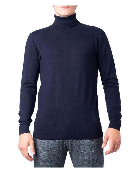 Blue Tone Color Turtle Neck Sweatshirt