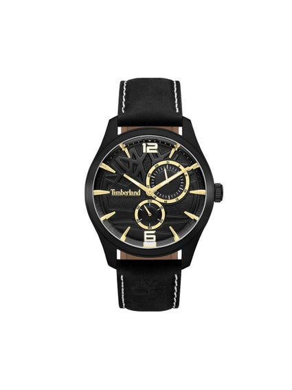 Black Leather Strap with Mili Second Hands