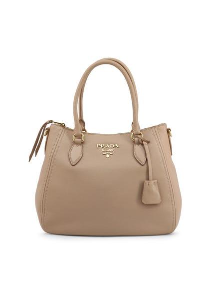 Leather Zipper Removable Strap Handbag
