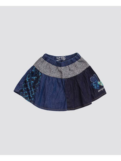 Multicolour Granolers Kids Mini Skirt