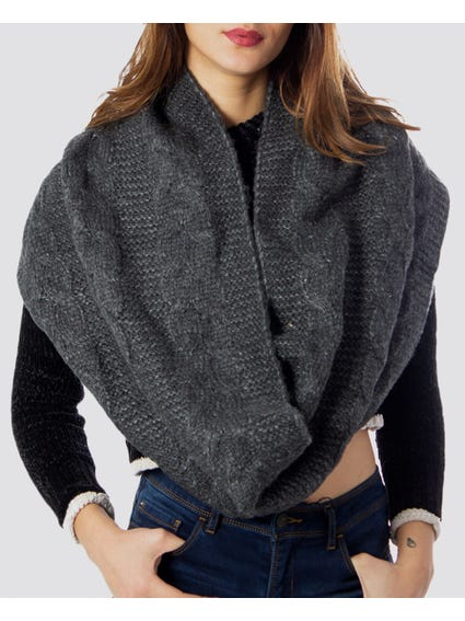 Karen Cable Knit Tube Scarf