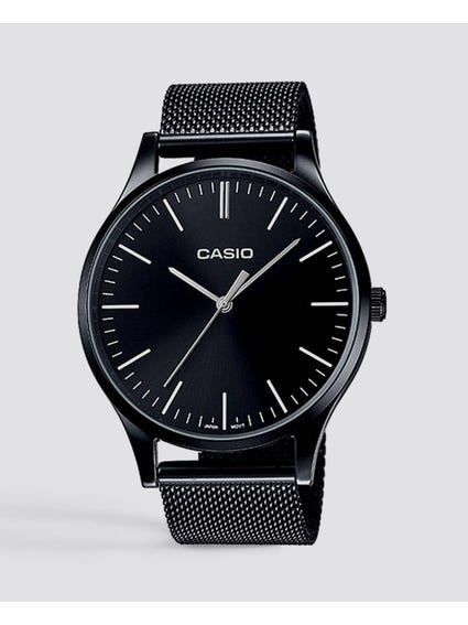 Black Mesh Strap Analog Watch