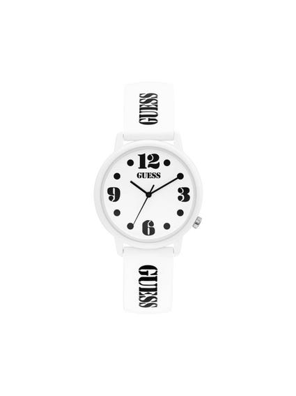 White 3 Hands Analog Watch