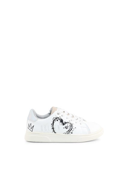 Round Toe Glitter Kids Sneakers