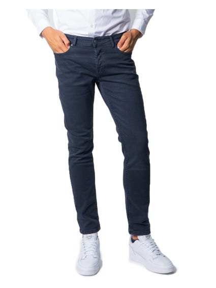 Button Zip Slim Fit Jeans