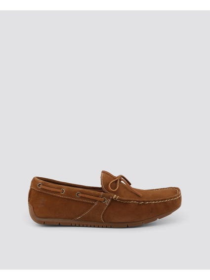 Brown Lemans Lace Moccasins