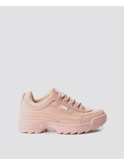 Nude Chunky Lace Up Sneakers