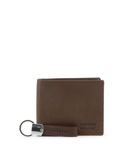 Brown Key Holder Wallet Leather Set