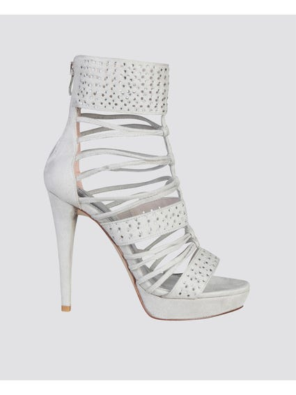 Grey Ghiaccio Heel Sandals