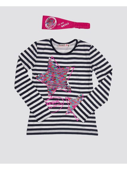Stripe Trendy Long Sleeves Kids Top