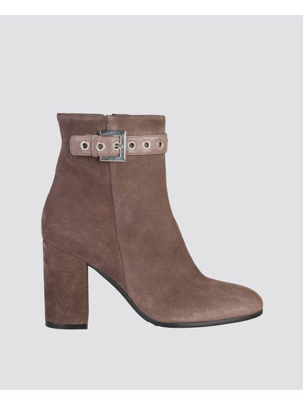 Brown Isabella Zip Ankle Boots