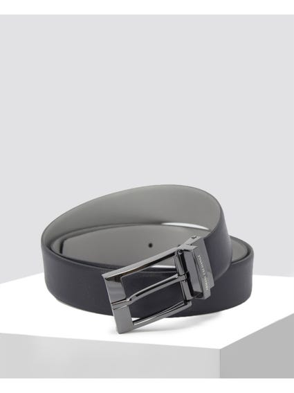 Blue Plan Leather Belt