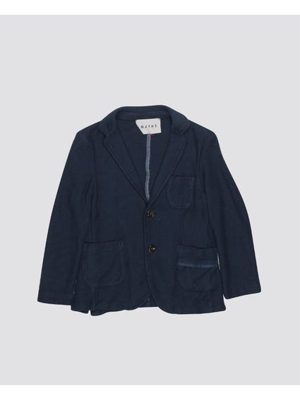 Navy Double Button Kids Blazer