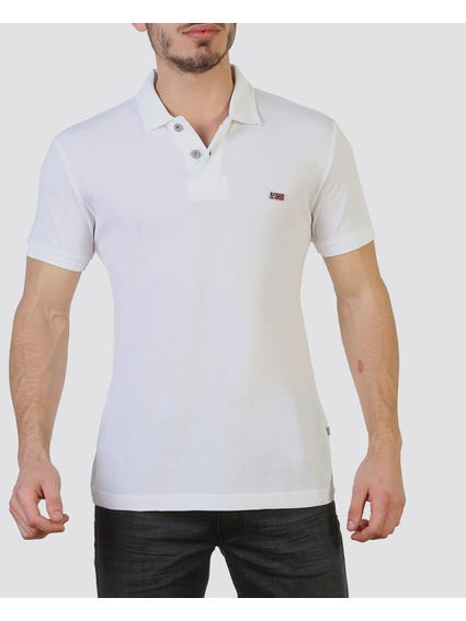 White Dual Button Polo Shirt