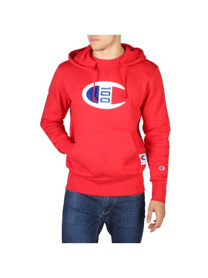 Red Long Sleeve Hooded Sweatshirt