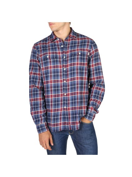 Checkered Side to Side Chest Pocket Shirt