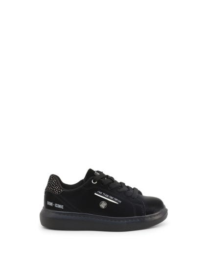 Black Studs Kids Sneakers