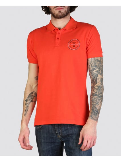 Red Tri-Button Polo Shirt