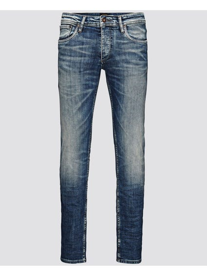 Blue Washed Slim Fit Jeans