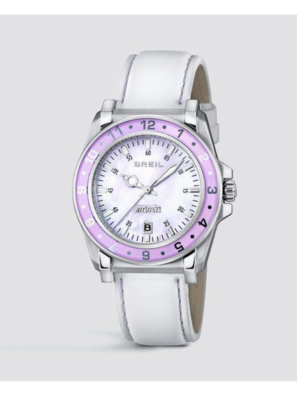 Purple Case Manta Analog Watch
