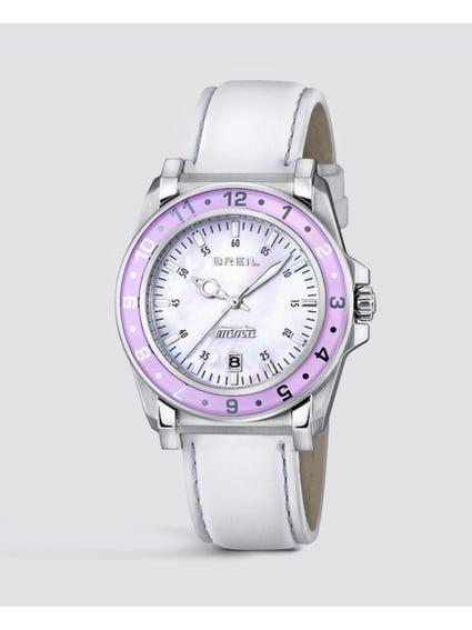 Purple Case Manta Analog Watch