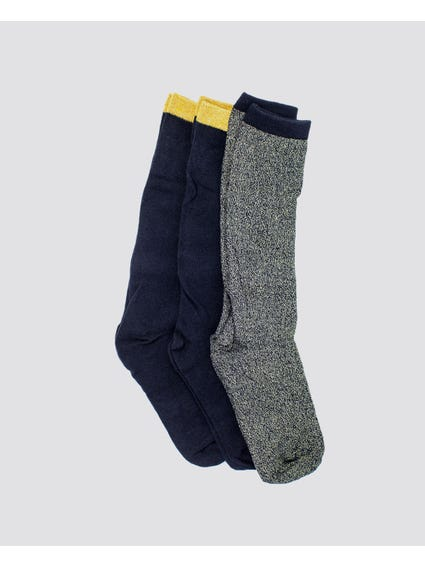 Blue Soft Long Socks