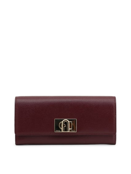Maroon Leather Envelope Wallet