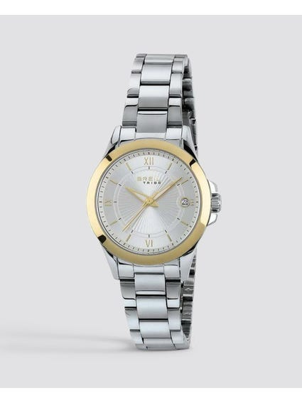 Gold Case Tribe Choice Analog Watch