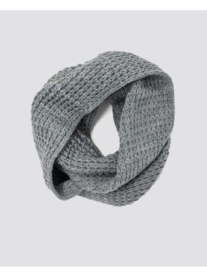 Grey Knitted Scarves
