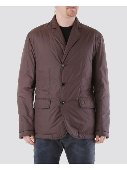 Brown Two Front Flap Pockets Jacket