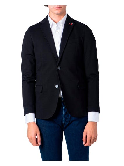 Black Long Bull Sleeve Blazer