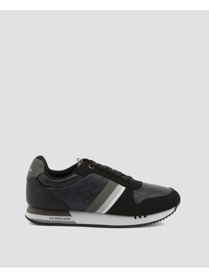 Black Corad Three Stripe Sneakers