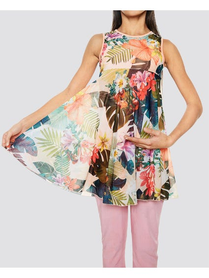 Multi Floral Kids Dress